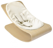 Bloom Coco Stylewood Baby Lounger - Natural Frame / Coconut White
