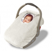 Jolly Jumper Sneak-A-Peek Infant Carseat Cover - Cream