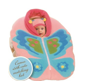 Widgeon Snugaroo Infant Fleece Car Seat Jacket Cover and Baby Hat Butterfly Style