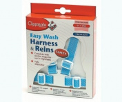 Clippasafe Easy Wash Harness and Reins - Blue