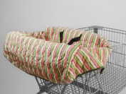 Pam Grace Creations Funky Stripe Grocery Cart Cover, Green, Pink, Peach