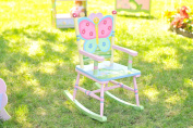 Fantasy Fields - Magic Garden Thematic Kids Wooden Rocking Chair | Imagination Inspiring Hand Crafted & Hand Painted Details | Non-Toxic, Lead Free Water-based Paint