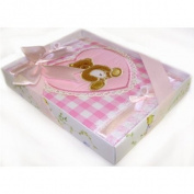 Gift Baby Albumpink Teddy Heart -Affordable Gift for your Little One! Item #IA4L-AB-5931