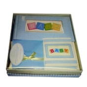 Baby Album Set - Blue - For 100 Photos of 10.2cm X 15.2cm - By Sheffield Home