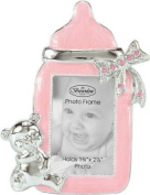 Girl Baby Bottle Photo Frame With Rhinestone Accent