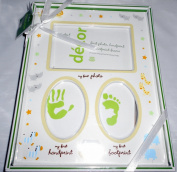 Nursery Photo Frame Holds My First Photo, My First Handprint, My First Footprint