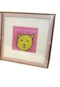 """Cat Baby Wall Art Wood Frame - """"You're purrfect"""""""