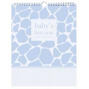 Pepper Pot Baby's First Year Keepsake Calendar, Giraffe Boy