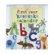 Jill McDonald Kids First Year Keepsake Calendar, Alphabet Animals