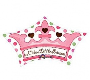 A New Little Princess Crown Shape 61cm Mylar Balloon