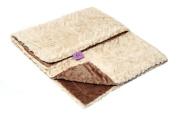 Magnolia Line Minky Baby Blanket Lux Brown