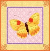 Eeboo Yellow Butterfly Canvas Wall Art
