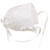 Elegant Baby White Keepsake Bonnet