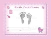 TenLil'Imprints Birth Certificate Kit, Pink/Black