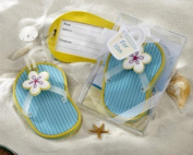 Flip-Flop Luggage Tag in Beach-Themed Gift Box - Baby Shower Gifts & Wedding Favours