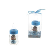 "Lunaura Baby Keepsake - Set of 30.5cm Boy"" Baby Inside Baby Bottle Favours - Blue"