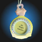 Baby Rattle Photo Frame Christmas Holiday Ornament
