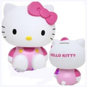Hello Kitty Coin Bank Piggy Bank Pink Overalls
