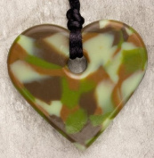 Teething Bling Jungle Green Tween Bling Heart Shaped Necklace