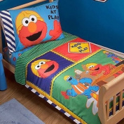 Sesame Street - Construction Zone 4-Piece Toddler Bedding Set