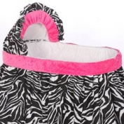 Minky Zebra Bassinet Bedding - Size