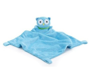 Adorable Soft Blue Security Blanket with Plush Owl For Baby or Toddler