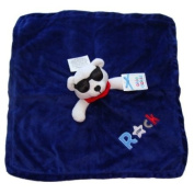Okie Dokie Blue Rock Star Baby Snuggle Buddy Security Lovey Blanket