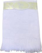 Large Soft White Acrylic Baby Shawl / Blanket - Duck Design, 122 x 122 cm