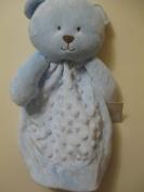 Baby Gear Blue Teddy Bear Security Blanket