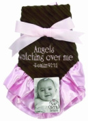 Sue Berk Designs Plush Soft Blankie with the Scripture, Pink Angels Watch Over Me