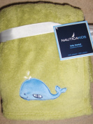 Nautica Kids Baby Soft Plush Blanket Green with Whale Applique
