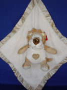 Ellis Baby Blankie Buddies Super Soft 2-in-1 Security Blanket 45.7cm x45.7cm Beige Blanket with Baby Lion 17.8cm Sitting Height