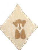 Ellis Baby Blankie Buddies Super Soft 2-in-1 Security Blanket 45.7cm x45.7cm Beige Lovie Banky w/ Toy Brown Bear 30.5cm Long