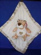 Ellis Baby Blankie Buddies Super Soft 2-in-1 Security Blanket 45.7cm x45.7cm Beige Blanket with Baby Tiger 17.8cm Sitting Height