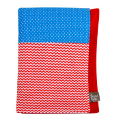 Trend Lab Mommy's Little Monster Multi Patched Received Blanket, Red/Blue