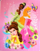 "Princess ""Dream Big"" Royal Plush Baby Blanket 101.6cm x127cm"