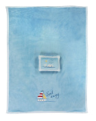 Manual Woodworkers Sail Away Fleece Blanket and Pillow Set - Blue