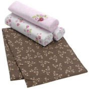 Just Born Enchanted 4-Pack 100% Cotton Flannel Receiving Blanket