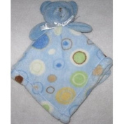 Baby Gear Blue Bear with Dots and Circles Security Blanket Lovey