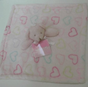 Baby Gear Pink Bear with Hearts Security Blanket Lovey
