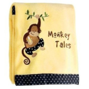 Manual Woodworkers Monkey Tales Baby Blanket, Yellow, 76.2cm x 101.6cm