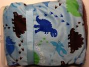 "Dinosaur "" Dino Party "" Soft Sherpa Baby Blanket Dinosaurs"