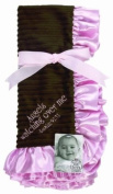 Sue Berk Designs Plush Soft Blanket with the Scripture, Pink Angels Watch Over Me