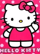 Hello Kitty Royal Plush Raschel Throw