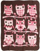 Green 3 Throw Blanket, Owl