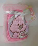 Ultra Soft Blanket With Applique - Care Bears - Pink