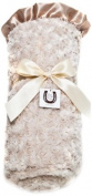Max Daniel Designs Satin Adult Throw Blanket, Champagne Rosebuds