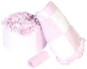 Baby Doll Bedding Gingham Cradle Bedding Set, Lavender