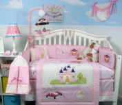 SoHo Royal Princess Baby Crib Nursery Bedding Set 13 pcs included Nappy Bag with Changing Pad & Bottle Case