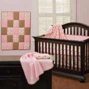 Cotton Candy Pink 7 Piece Baby Crib Bedding Set